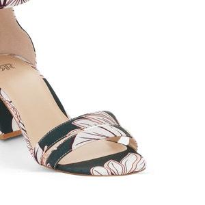 Sandálias com estampado tropical MADEMOISELLE R