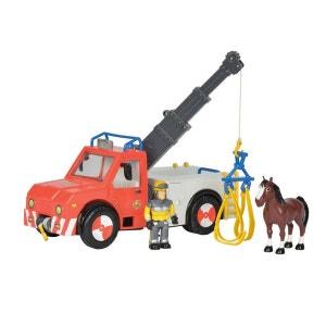 Camion de pompier grue Phoenix Sam le pompier SMOBY