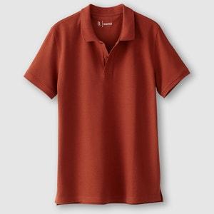 Short-Sleeved Piqué Knit Polo Shirt R essentiel