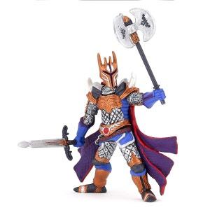 Figurine chevalier triple hache argent PAPO