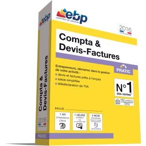Logiciel PC EBP Compta & Devis-Factures Pratic 2016 +VIP EBP