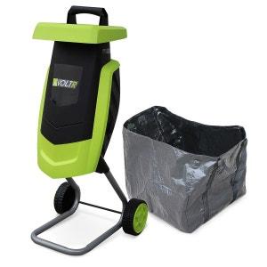 Broyeur à végétaux électrique VOLTR, 2200W avec sac de récupération, poussoir, r ALICE S GARDEN