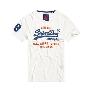 T-shirt in zuiver katoen met print vooraan