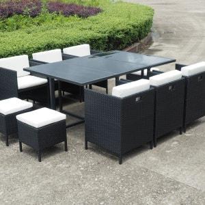 Table de jardin octogonale la redoute - La redoute table de jardin en resine tressee ...
