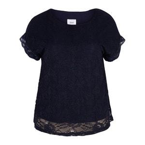 Kurzärmelige Bluse, runder Ausschnitt, unifarben ZIZZI