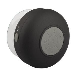 Mini enceinte Bluetooth ronde kit main libre ventouse waterproof noir Yonis
