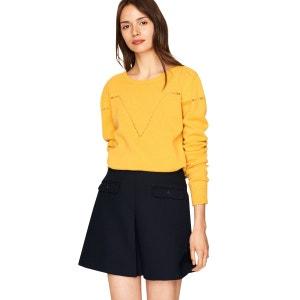 Mini-jupe taille haute trapèze IDANO