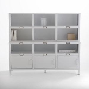 Buffet met 3 deuren in staal, mat wit, Hiba La Redoute Interieurs