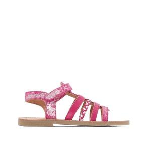 Sandálias com presilhas autoaderentes, pele abcd'R