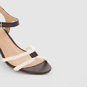 Sandalias de tacón medio con detalle de cuerda atelier R