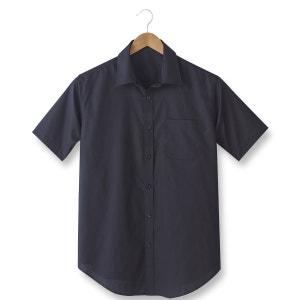 Hemd in popeline met korte mouwen, lengtemaat 1 + 2 CASTALUNA FOR MEN