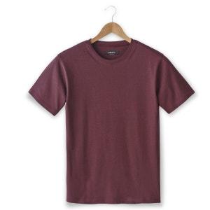 T-shirt de gola redonda e mangas curtas, puro algodão CASTALUNA FOR MEN