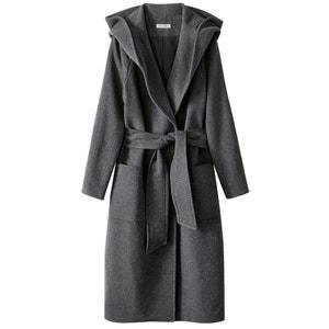 Пальто с капюшоном  из шерстяного драпа La Redoute Collections