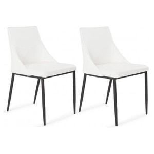 Lot de 2 chaises en contreplaqué Blanches TEKLA DECLIKDECO