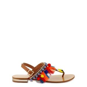 Sandalias de piel Hipi COSMOPARIS