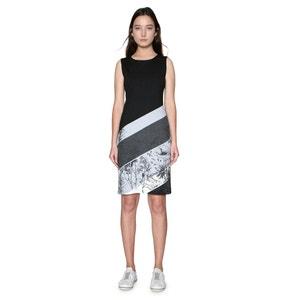 Short Sleeveless Graphic Print Shift Dress DESIGUAL
