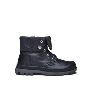 Boots met veters en luipaardprint 74483 BGY VL Z II K PALLADIUM