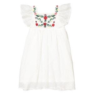 Платье с цветочной вышивкой 3-12 лет La Redoute Collections