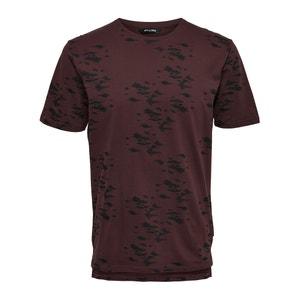 Camiseta estampada de cuello redondo y jacquard ONLY & SONS