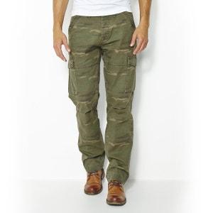 Pantalon imprimé forme battle 100% coton La Redoute Collections