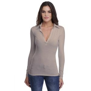 T-shirt col polo manches longues en modal GLORIA RENDEZ-VOUS PARIS