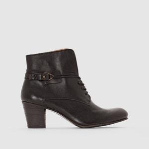 Boots in leer met hak, Seelace KICKERS
