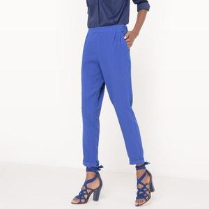 Pantaloni fluidi, vita elasticizzata R essentiel