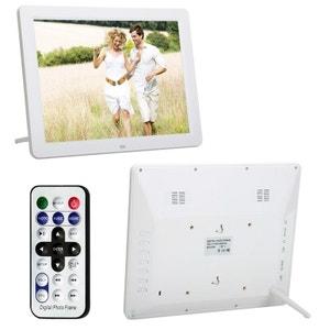 Cadre Photo Numérique Grand Format Ecran TFT LCD 12 pouces 4:3 Blanc Yonis