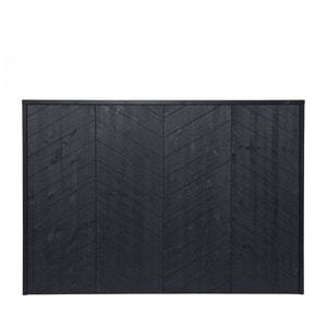 Tête de lit en bois noir mat Chevron DRAWER