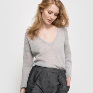 Pullover mit V-Ausschnitt, luftiger Strick La Redoute Collections