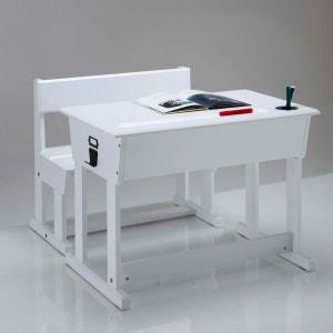TOUDOU Solid Pine Reading Desk + School Chair La Redoute Interieurs