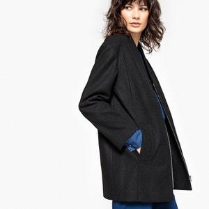 Plunge Neck Coat La Redoute Collections