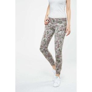 Jeans The Multi Zip Stiletto Current Elliott Kaki CURRENT ELLIOTT