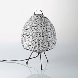 Candeeiro de mesa em algodão estampado, Zalie La Redoute Interieurs
