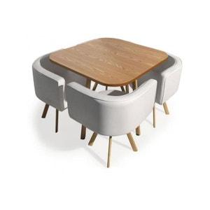 Table et chaises Encastrables Scandinaves Chêne COPENHAGUE DECLIKDECO