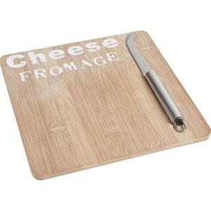 Plateau de fromage en bambou avec couteau AUBRY GASPARD