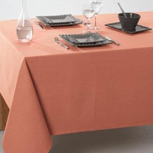 Effen tafellaken in gecoat katoen SCENARIO