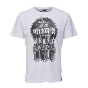 T-shirt met ronde hals en motief vooraan ONLY & SONS