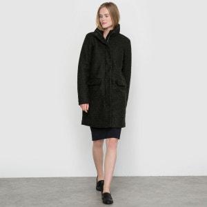 Manteau zippé, col montant, intérieur doudoune, SE ICHI