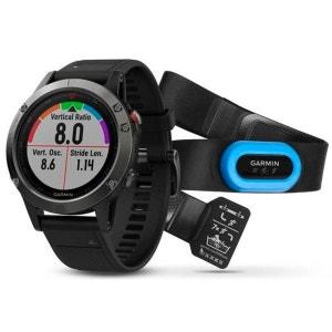 fenix 5 - Cardiofréquencemètre - Performer Bundle / Premium HRM-Tri Brustgurt gris/noir GARMIN