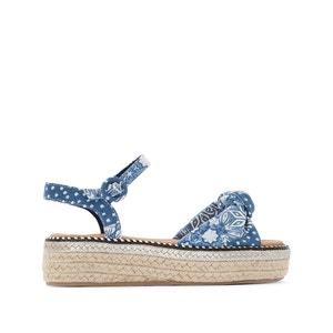 Stoffen sandalen met sleehak COOLWAY