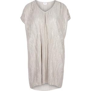 Plain Short-Sleeved Straight Knee-Length Dress ZIZZI