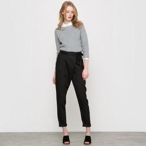 Pantaloni a portafoglio viscosa/lino R studio