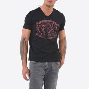 Koszulka z dekoltem w kształcie litery V i krótkim rękawem KAPORAL 5