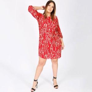 Halflange rechte jurk met bloemenprint KOKO BY KOKO