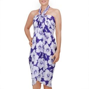 Paréo Batik petit hibiscus Violet BAISERS SALES