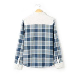 Camisa de mangas compridas aos quadrados 10-16 anos R teens