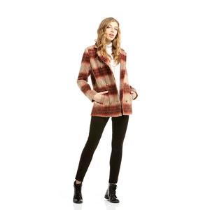 Manteau laine à carreaux CHARLISE