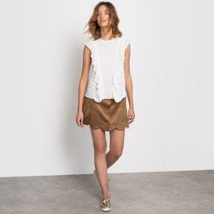 Faux Suede Mini Skirt MADEMOISELLE R