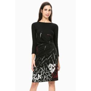 Платье прямое с длинными рукавами, Vest Castalia DESIGUAL